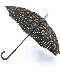 Fulton dámský holový deštník Cath Kidston Bloomsbury 2 KINGSWOOD ROSE CHARCOAL L778