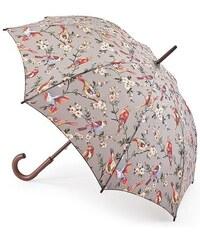 Fulton dámský holový deštník Cath Kidston Kensington 2 BRITISH BIRDS GREY L541