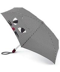 Fulton dámský skládací deštník Lulu Guinness Tiny 2 Kooky Cat Stripe L717
