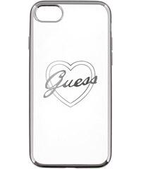 Pouzdro / kryt pro Apple iPhone 7 - Guess, Heart TPU Silver