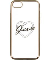 Pouzdro / kryt pro Apple iPhone 7 - Guess, Heart TPU Gold