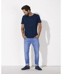 Stanley&Stella STANLEY ENJOYS DENIM Pánské tričko s krátkým rukávem ze 100% biobavlny - tmavě modrá