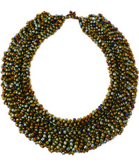 Fair trade TIBOLI korálkový náhrdelník (obojek) - bronzováLotusFeet