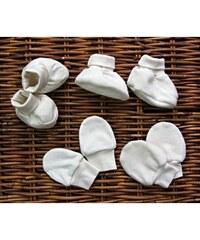 Dětské bačkůrky ze 100% biobavlny Button style