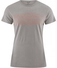 TYPO pánské tričko s krátkým rukávem z biobavlny a konopí - šedohnědá mud, Hempage