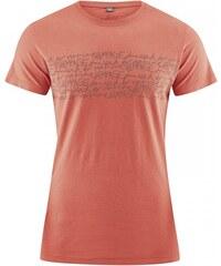 TYPO pánské tričko s krátkým rukávem z biobavlny a konopí - humrová, Hempage