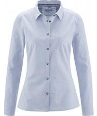 Hempage RENATE Dámská košile z biobavlny a hedvábí - šedomodrá