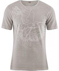 Hempage EAGLE pánské tričko s krátkým rukávem z biobavlny a konopí - šedohnědá mud