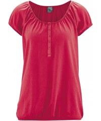Hempage CLARA dámské triko s krátkým rukávem z konopí a biobavlny - růžová chilli