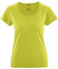 Hempage BREEZY dámské triko s krátkým rukávem z konopí a biobavlny - zelená apple