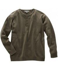 Hempage PAUL pánský pulovr s dlouhým rukávem z konopí a biobavlny - hnědý