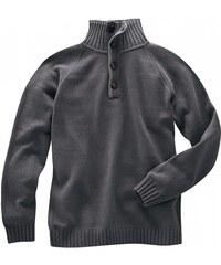 WILLIAM pánský svetr z biobavlny a konopí - antracitový Hempage