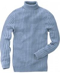 Hempage CHRISTOPH pánský svetr z biobavlny a konopí - sv. modrá