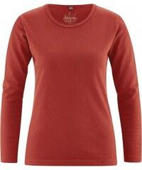 Hempage NAOMI dámské triko s dlouhými rukávy z konopí a biobavlny - červená šípková