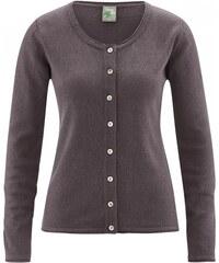 Hempage LOLA dámský pletený svetr z konopí a biobavlny - hnědá mocc