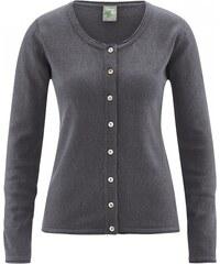 Hempage LOLA dámský pletený svetr z konopí a biobavlny - šedá antracit