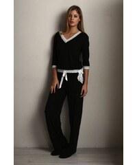Luisa Moretti Dámské bambusové pyžamo ROZALIE - černá