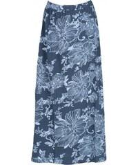 Nomads LOTUS maxi sukně z biobavlny - šedomodrá