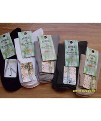 IVEX Bambusové ponožky černé (hladké)