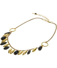 Černozlatý fairtrade korálkový náhrdelník Manumit