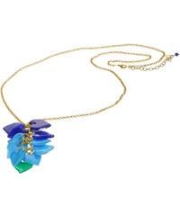 Dlouhý fairtrade srdíčkový modrý náhrdelník Manumit
