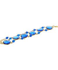 Modrý fazetový fairtrade náramek modrý Manumit