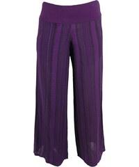 NOmads STRIPE dámské letní kalhoty fialové