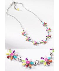 Fairtrade náhrdelník se smaltovanými květinkami Namaste