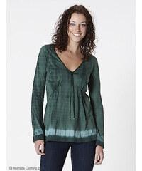 Nomads Dámské batikované tričko z biobavlny s dlouhým rukávem - zelená