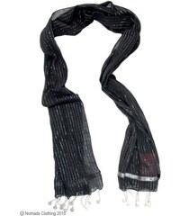 Nomads Bavlněná lurexová šála s penízky černá
