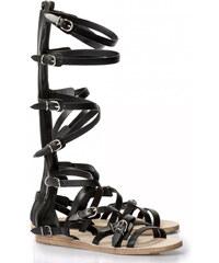 Sandales plates Balenciaga femme en Cuir veau noir