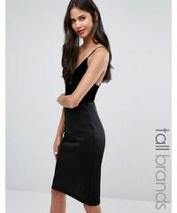 Y.A.S Tall - Body en velours - Noir