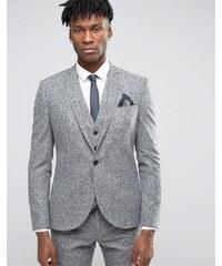 Noak - Enge Anzugjacke aus meliertem Donegal-Tweed - Grau
