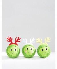 Paperchase - Weihnachtsdekoration mit Erbsendesign - Mehrfarbig