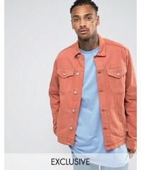 Reclaimed Vintage - Veste en jean oversize surteinte - Orange