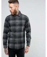 ASOS - Grau kariertes Hemd aus Wollmischgewebe in regulärer Passform - Grau