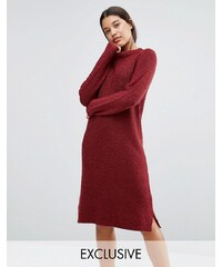 Micha Lounge - Robe pull en tissu bouclé - Rouge - Rouge