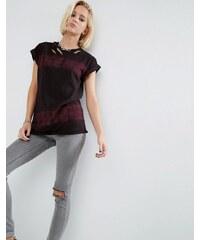 ASOS - T-shirt effet usé fini tie-dye - Violet