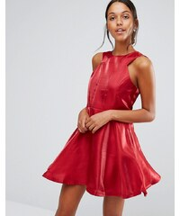 Love & Other Things - Robe patineuse à découpes - Rouge