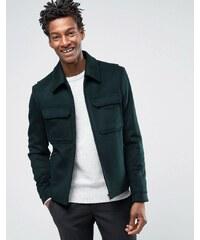 Reiss - Elegante Harringtonjacke aus Wolle - Grün