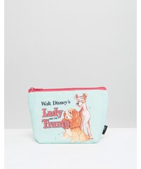 Beauty Extras Lady And The Tramp Retro Print Make Up Bag - Transparent