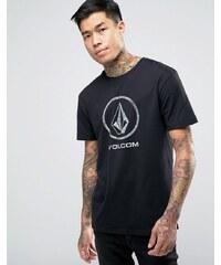 Volcom - Fade Stone - T-shirt à grand logo - Noir - Noir
