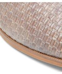 New Look Hellbraune, gewebte Loafers zum Hineinschlüpfen