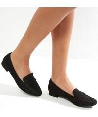 New Look Schwarze Loafers in Karreeform