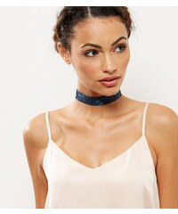 New Look Marineblaues Halsband mit Spitze