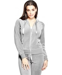 GUESS GUESS Lark Velour Hoodie - stone grey