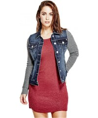 GUESS GUESS Alayna Sweater-Sleeve Jacket - dark wash