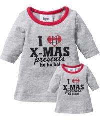 bpc bonprix collection Chemise de nuit enfant + chemise de nuit de poupée (Ens. 2 pces.) gris enfant - bonprix