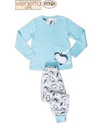 Vienetta Kids Dětské pyžamo dlouhé Tučňák na sněhu