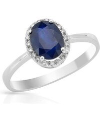Eppi Safírově modrý prsten s diamanty Arya